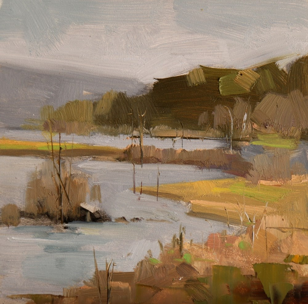 """Cypress Creek Park 4"" original fine art by Qiang Huang"