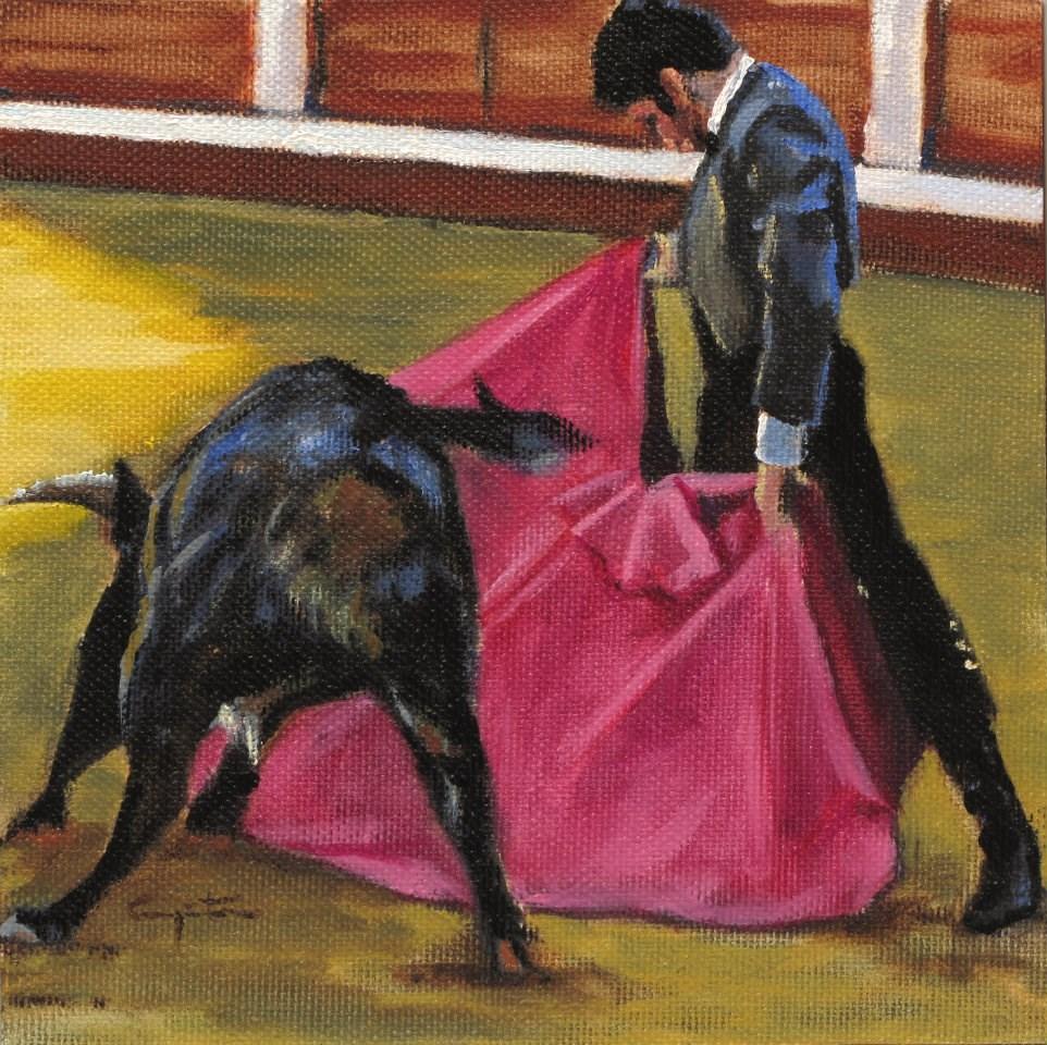 """Verónica en la sombra"" original fine art by Eduardo Carpintero"