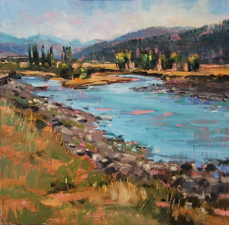"""The Lamar River"" original fine art by Mary Maxam"