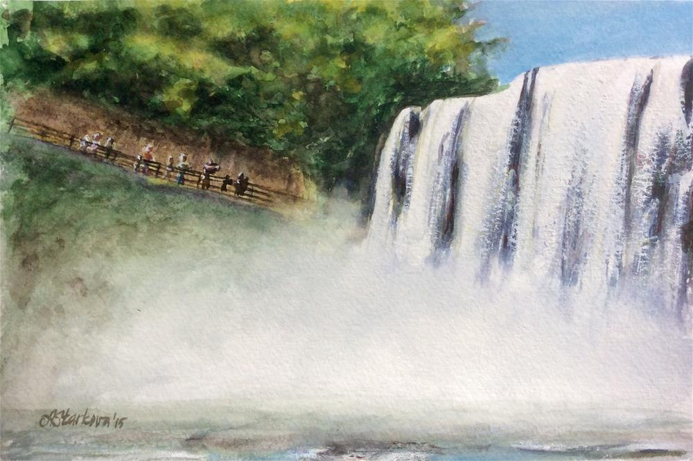 """On the Falls"" original fine art by Anna Starkova"