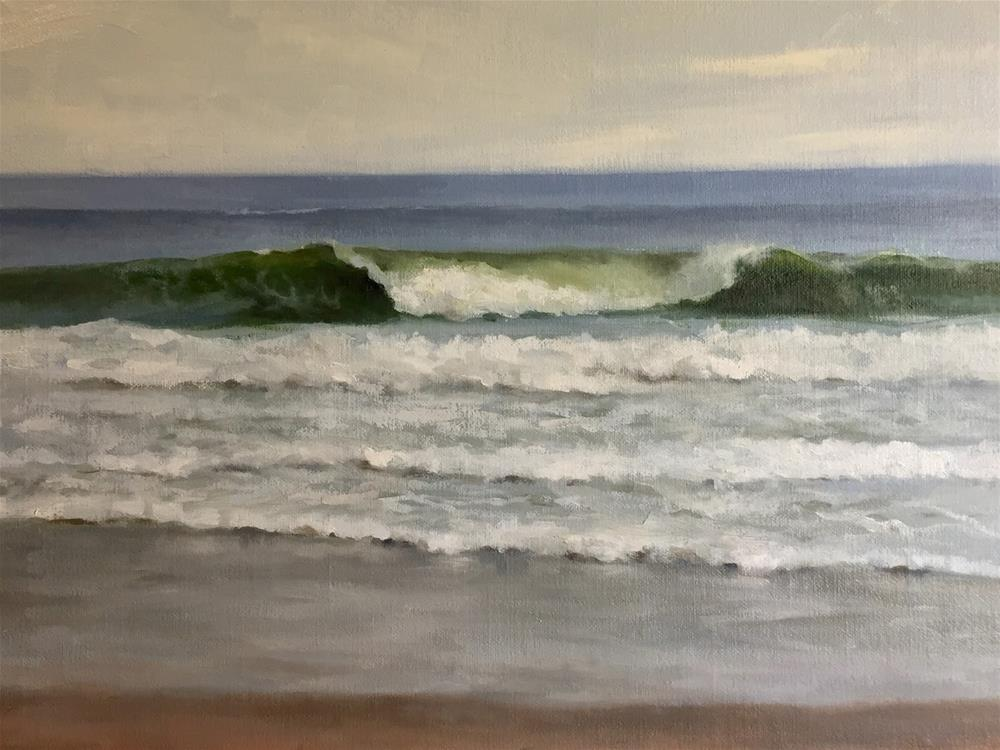 """Wave IV"" original fine art by Michelle Garro"