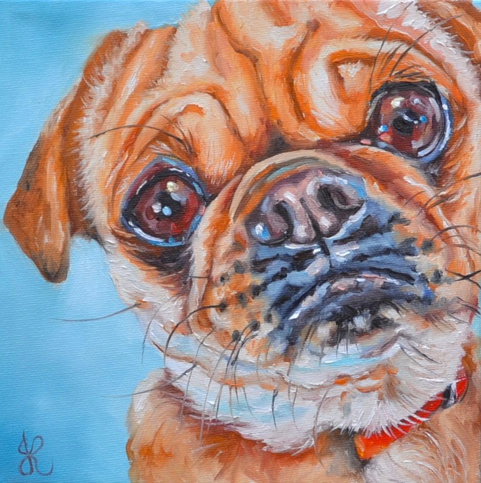 """Totoche"" original fine art by Jacinthe Rivard"