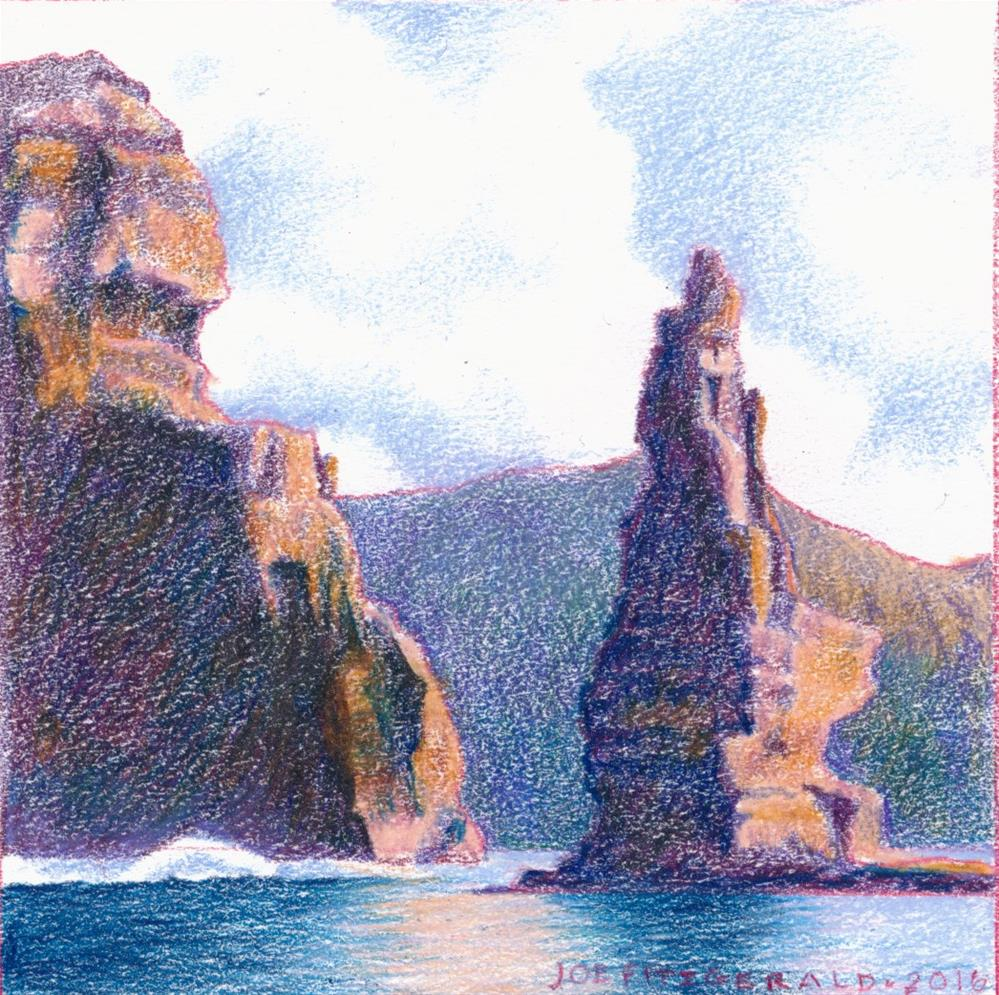 """Sailing Rund Moher VIII"" original fine art by Joe Fitzgerald"