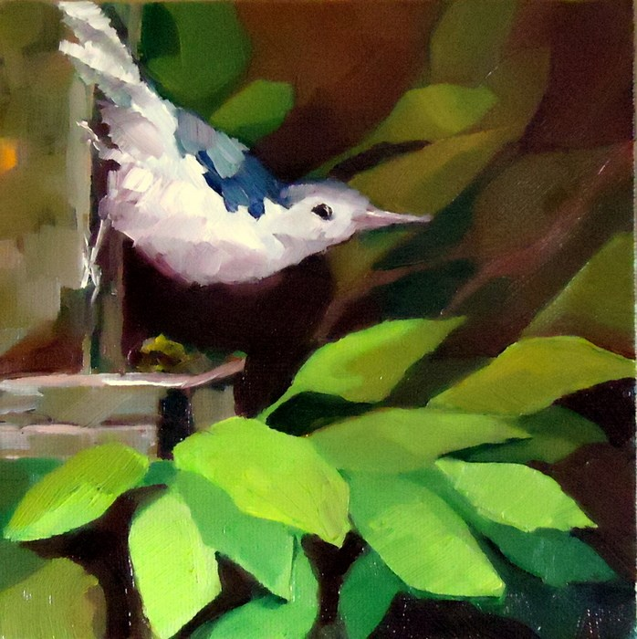 """Out on a Limb"" original fine art by Laurie Mueller"