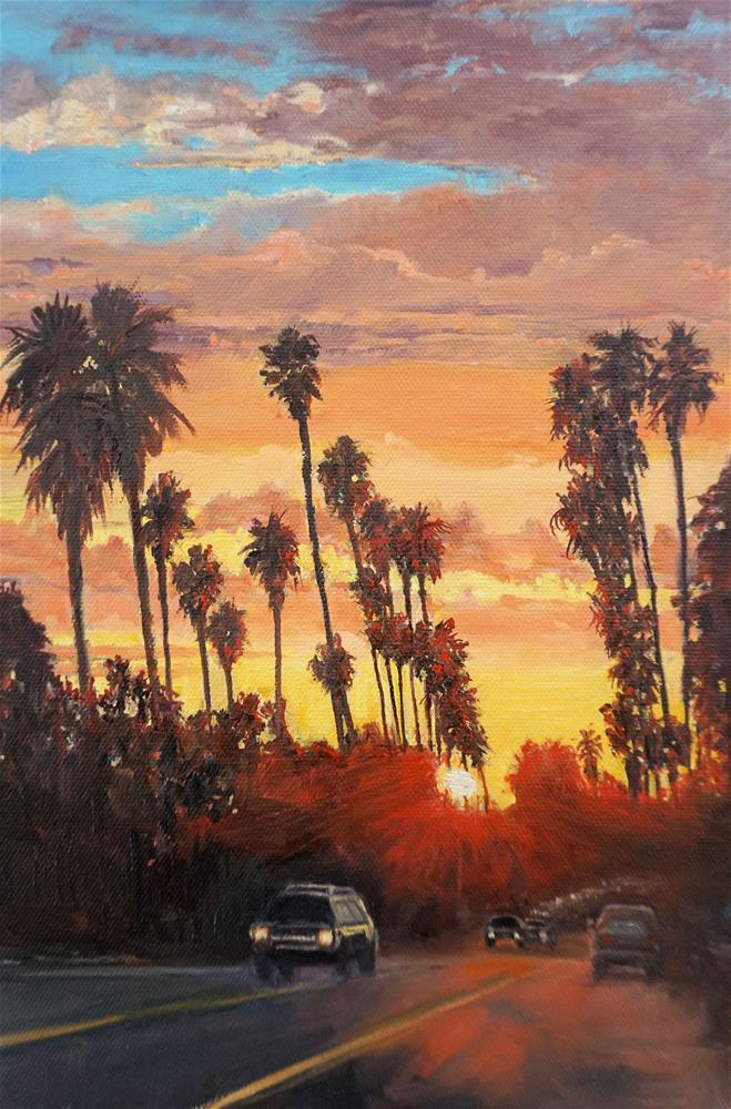"""""""Gold Rush Hour"""" original fine art by Patricia Matranga"""