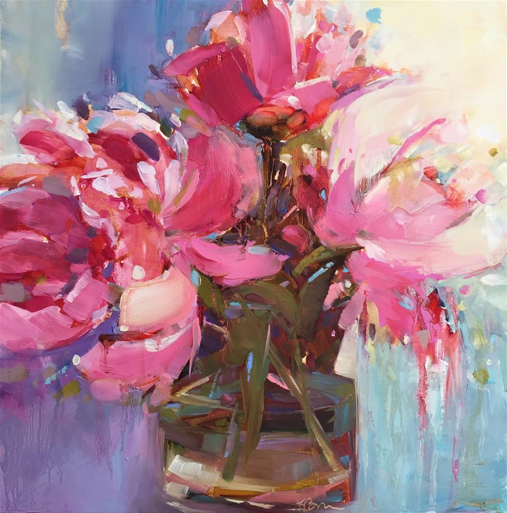 """Peony Glare"" original fine art by Kathleen Broaderick"