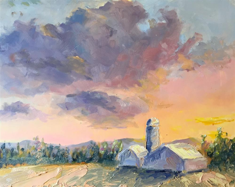 """sunset farm"" original fine art by Kristen Dukat"