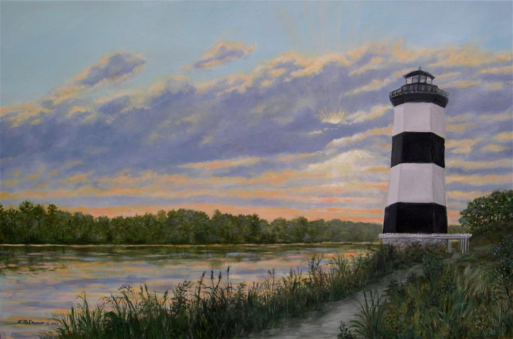 """Little River Light # 2 (C) 2009 by K. McDermott"" original fine art by Kathleen McDermott"