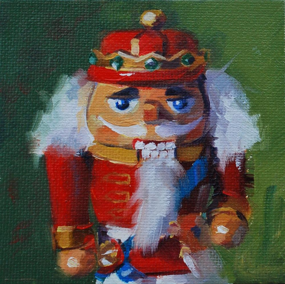 """No. 529 Mini Nutcracker #2"" original fine art by Susan McManamen"
