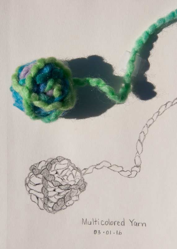 """Daily Sketch: Ball of Yarn"" original fine art by Debbie Lamey-Macdonald"