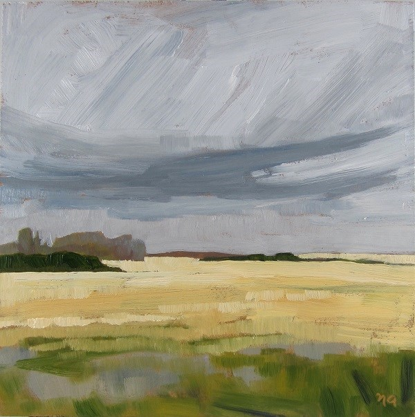 """September Fields"" original fine art by Nicki Ault"