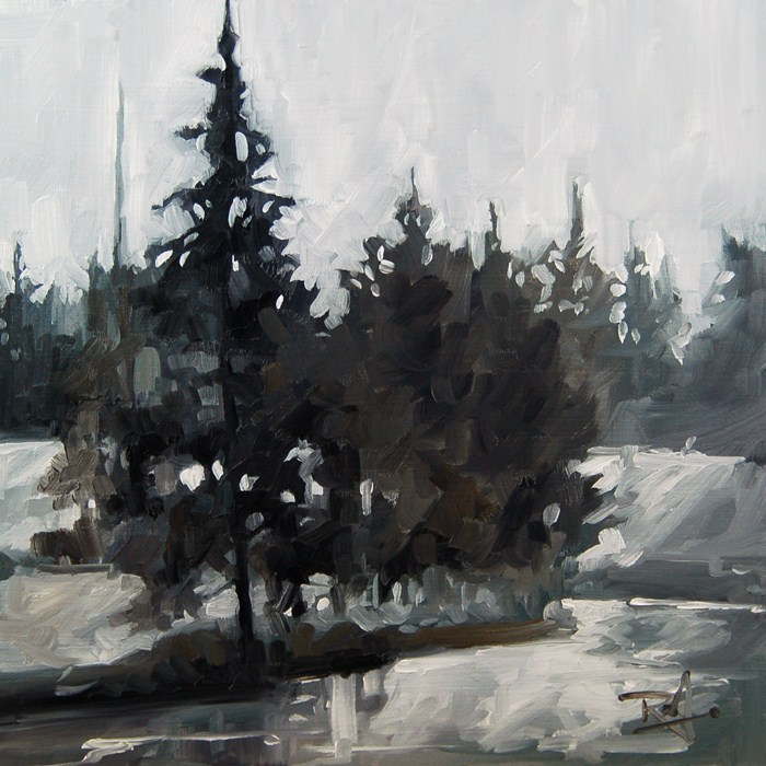 """No 410 Winter Creek"" original fine art by Robin J Mitchell"