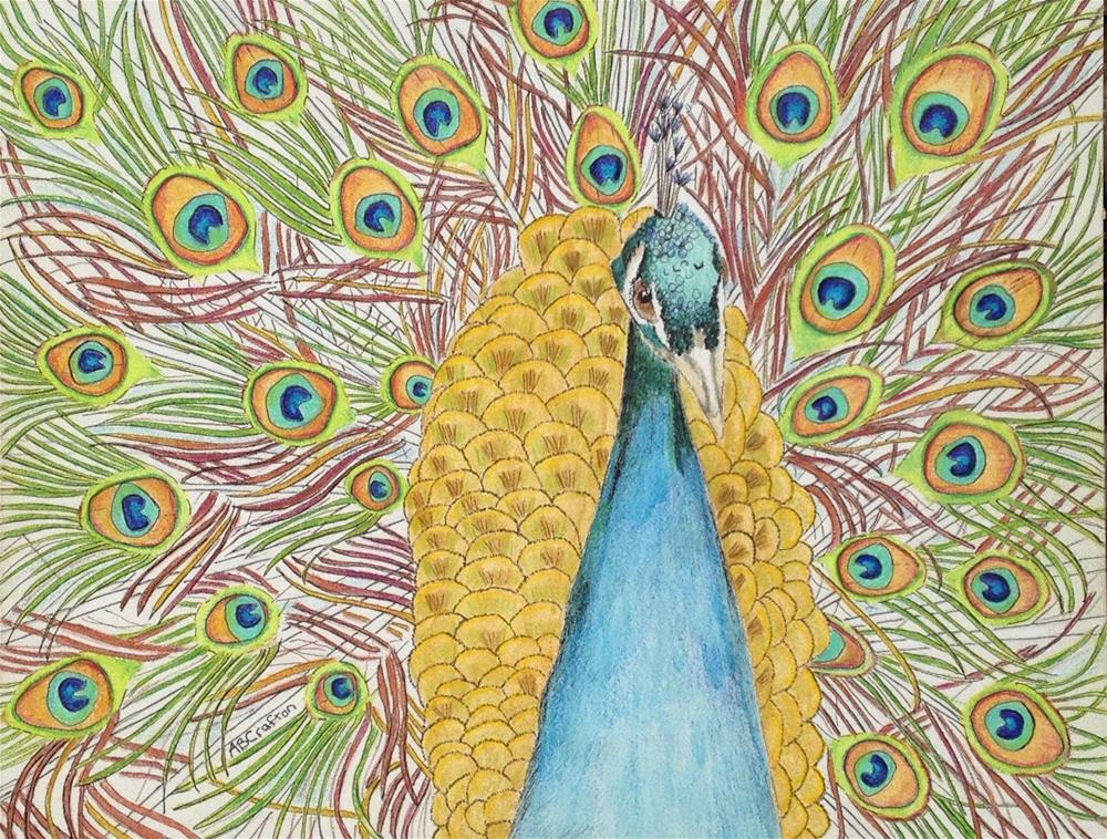 """Peacock"" original fine art by Arlene Crafton"