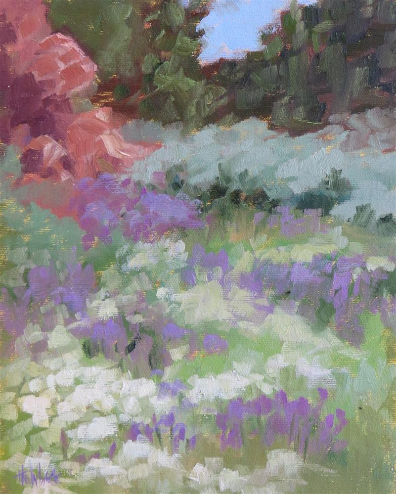 """Abundance Of Wild Flowers"" original fine art by Pam Holnback"