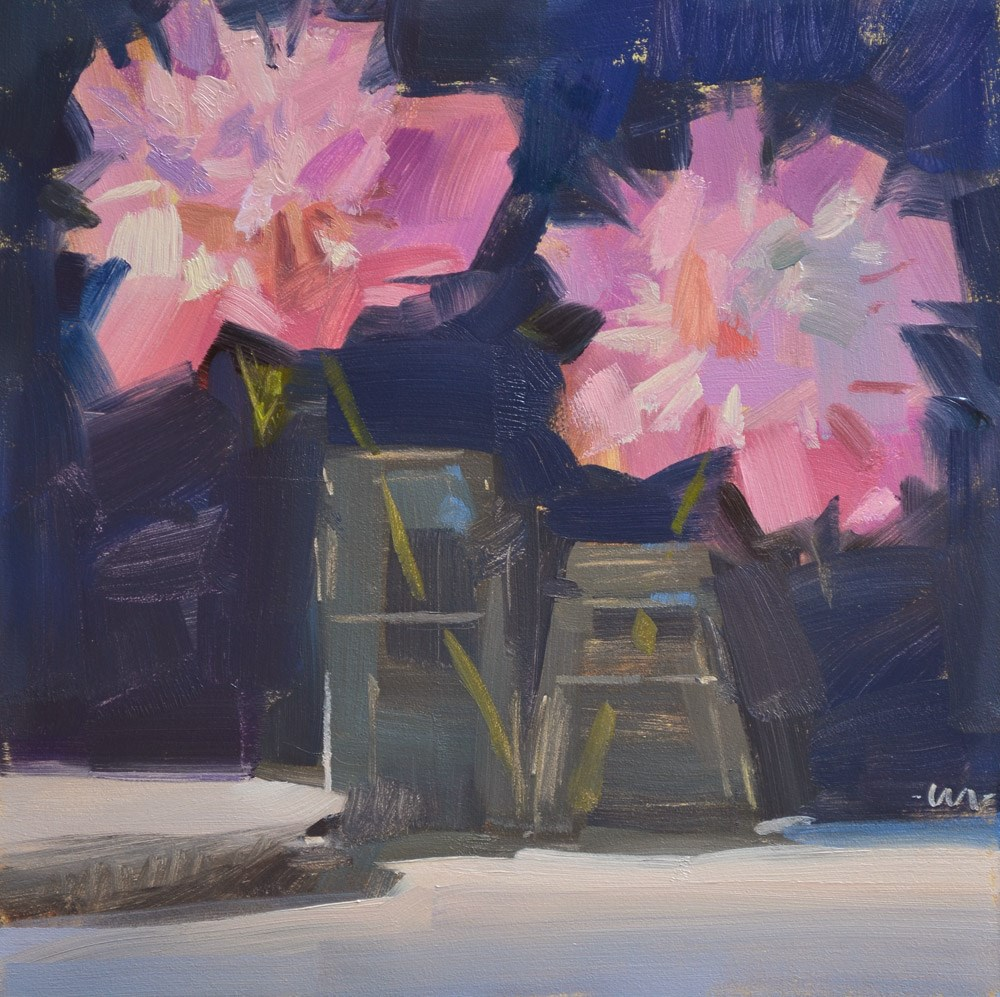 """Peony Sisters"" original fine art by Carol Marine"