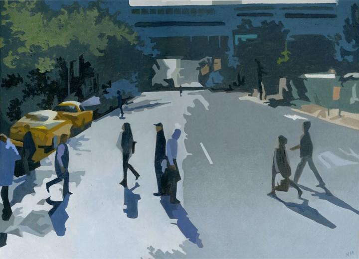 """Crossing"" original fine art by Nancy Herman"