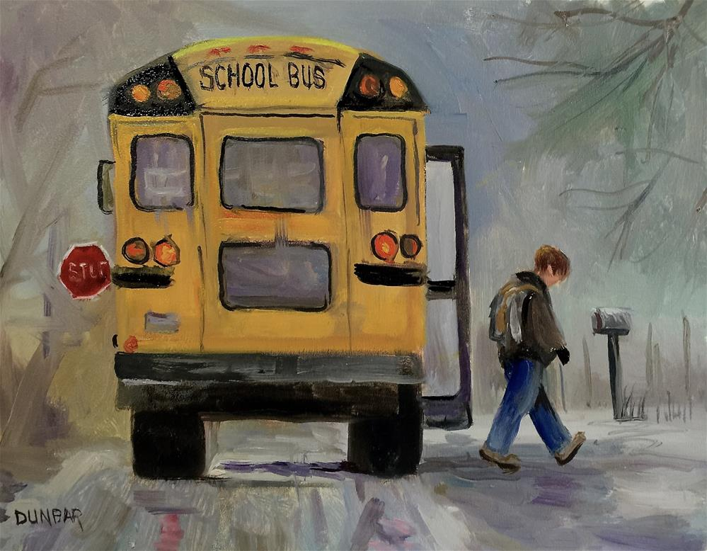"""The Bus"" original fine art by Linda Dunbar"