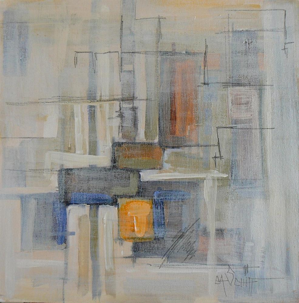"""""""Daily Abstract Mixed Media Painting,  No. 205 , 12x12"""" original fine art by Carol Schiff"""