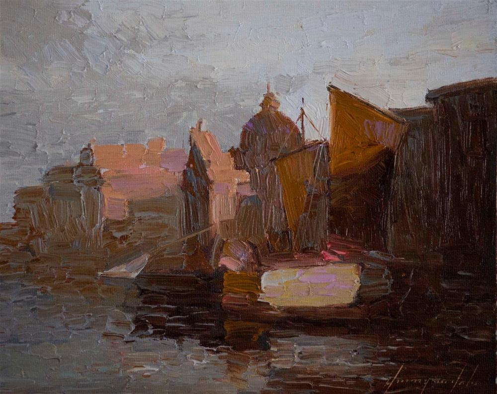 """Venice in the Evening Original oil Painting Handmade Art"" original fine art by V Y"