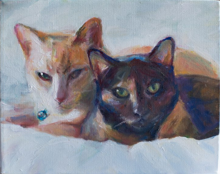 """Morgan & Bella"" original fine art by Sharon Savitz"