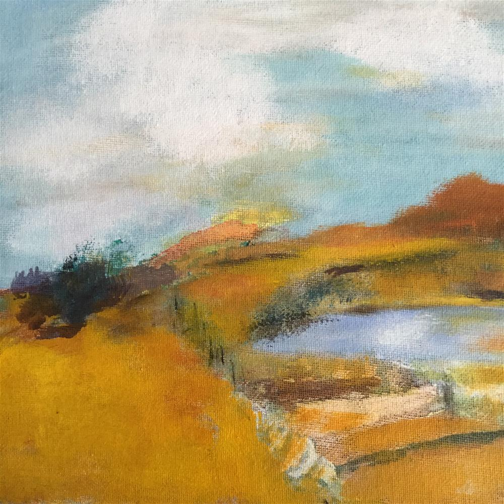 """Down by the O'Reilly's pond"" original fine art by pamela kish"