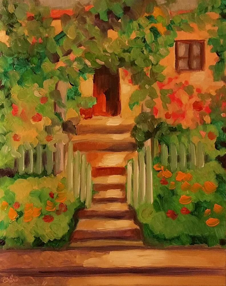 """Inviting Arbor"" original fine art by Leni Tarleton"