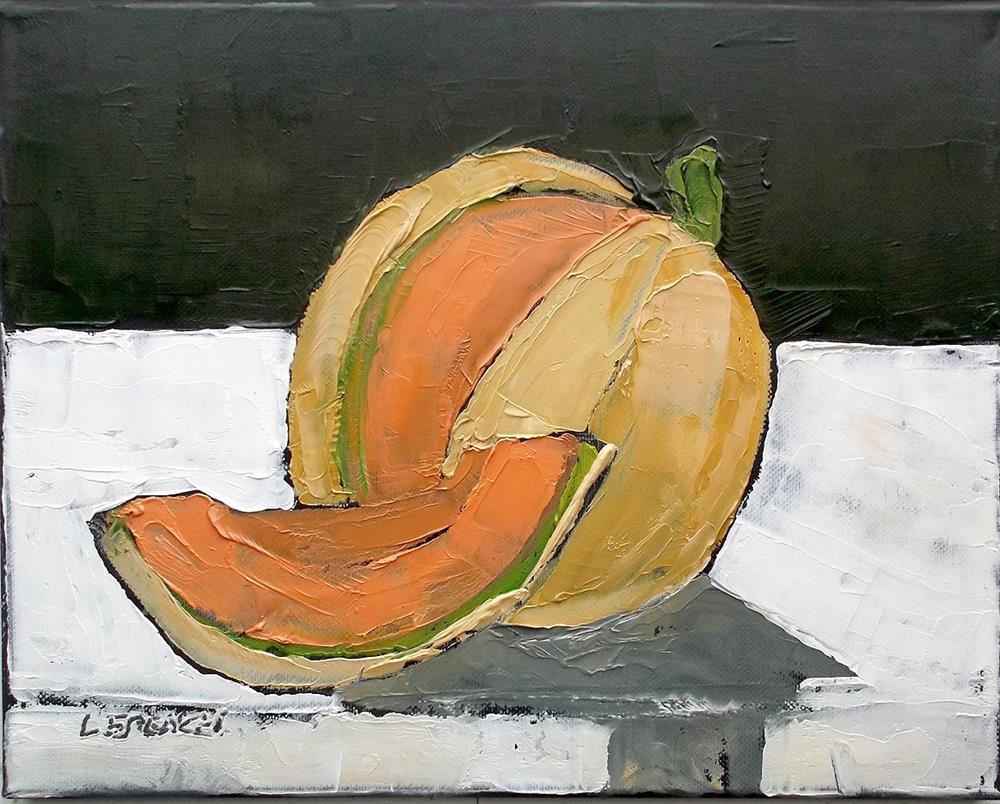 """Garden Cantaloupe"" original fine art by lynne french"