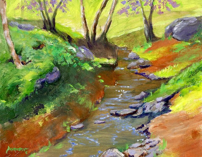 """Gum Springs and New Show"" original fine art by Sue Furrow"