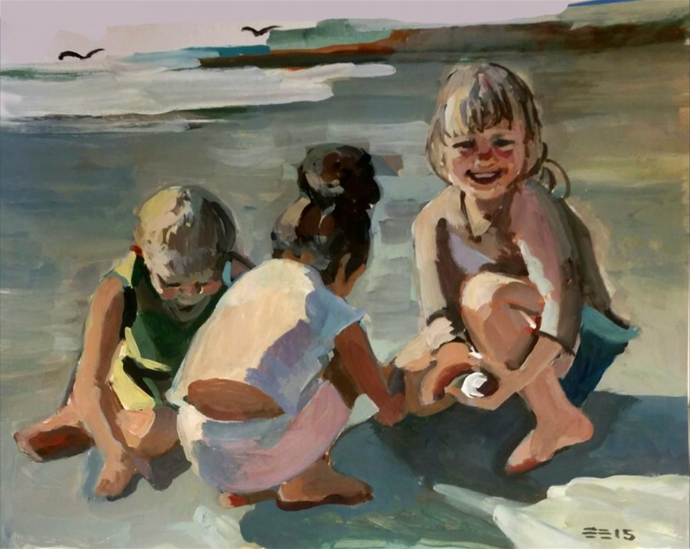 """Beach Friends"" original fine art by Liz Maynes"