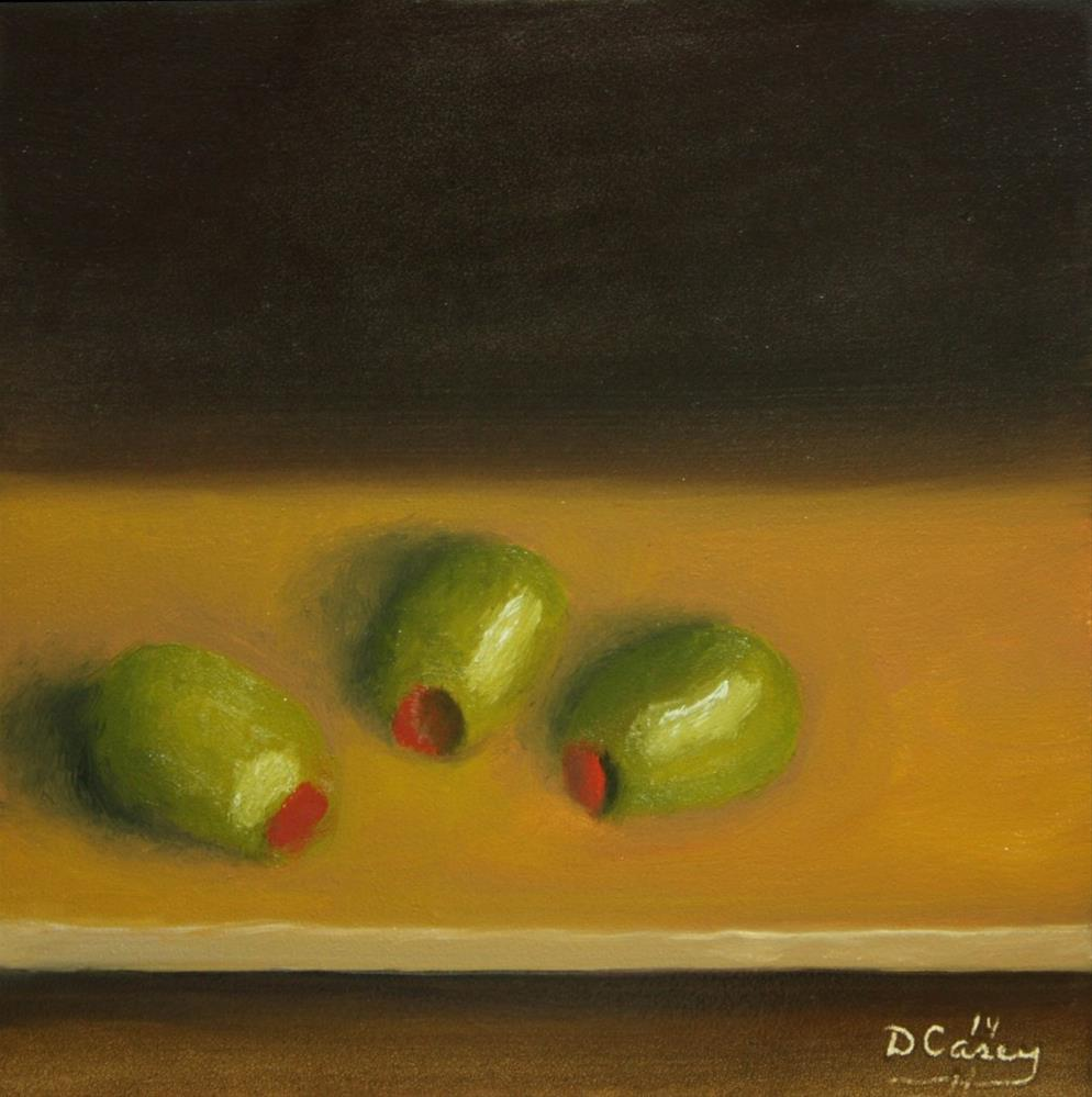 """140826 - Kitchen Painting - Olives 001a"" original fine art by Dave Casey"