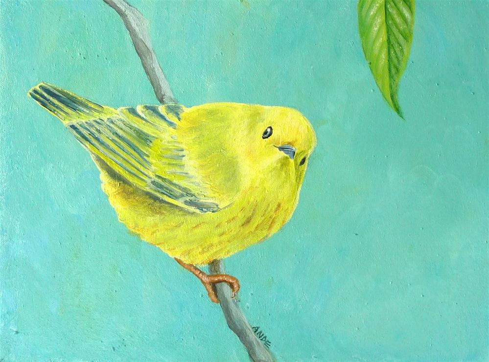"""Yellow Warbler"" original fine art by Ande Hall"