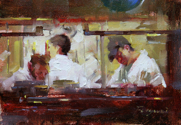 """Steak House"" original fine art by Fongwei Liu"
