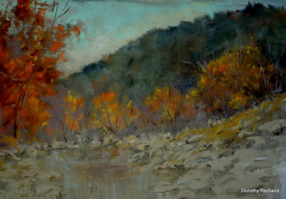 """Fall along the Frio"" original fine art by Dorothy Redland"