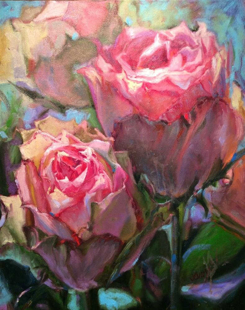 """Timeless pink iv"" original fine art by Jenny Buckner"