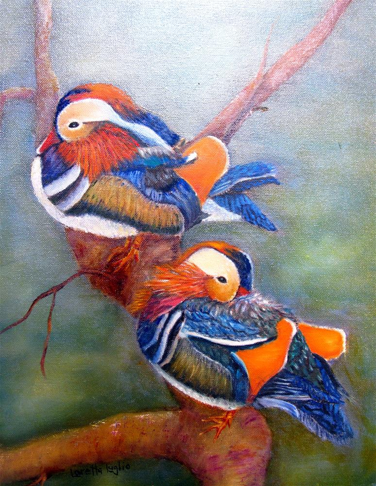 """Good Luck Mandarins"" original fine art by Loretta Luglio"