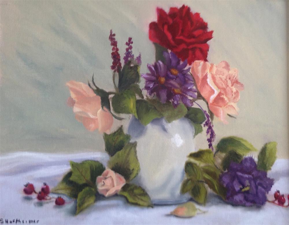 """""""A Bouquet For You"""" original fine art by Susan Hoffheimer"""