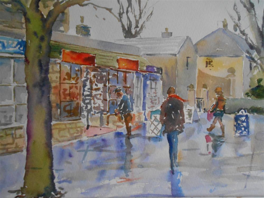 """The Newsagents"" original fine art by Graham Findlay"