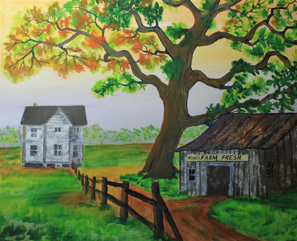 """Farm Fresh Veggies"" original fine art by Jack Brauer"