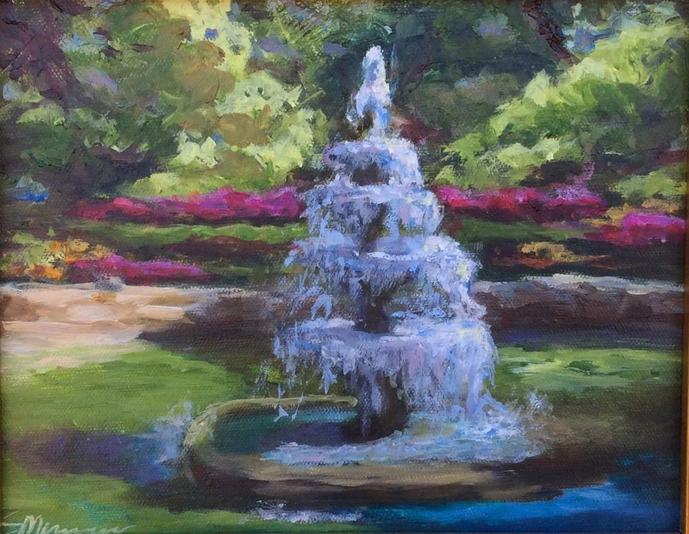 """fountain head"" original fine art by Susie Monzingo"