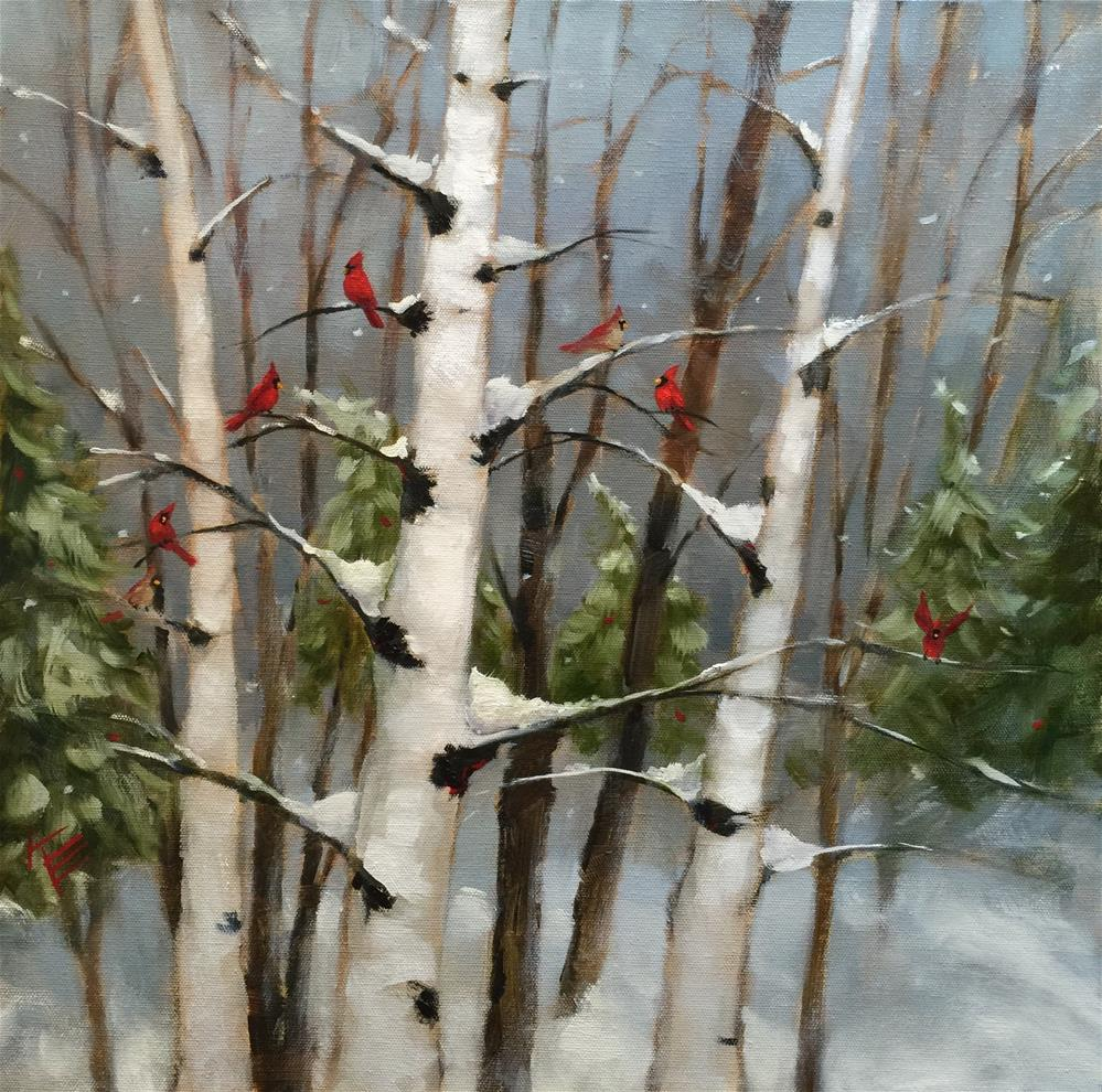 """Winter Conference"" original fine art by Krista Eaton"