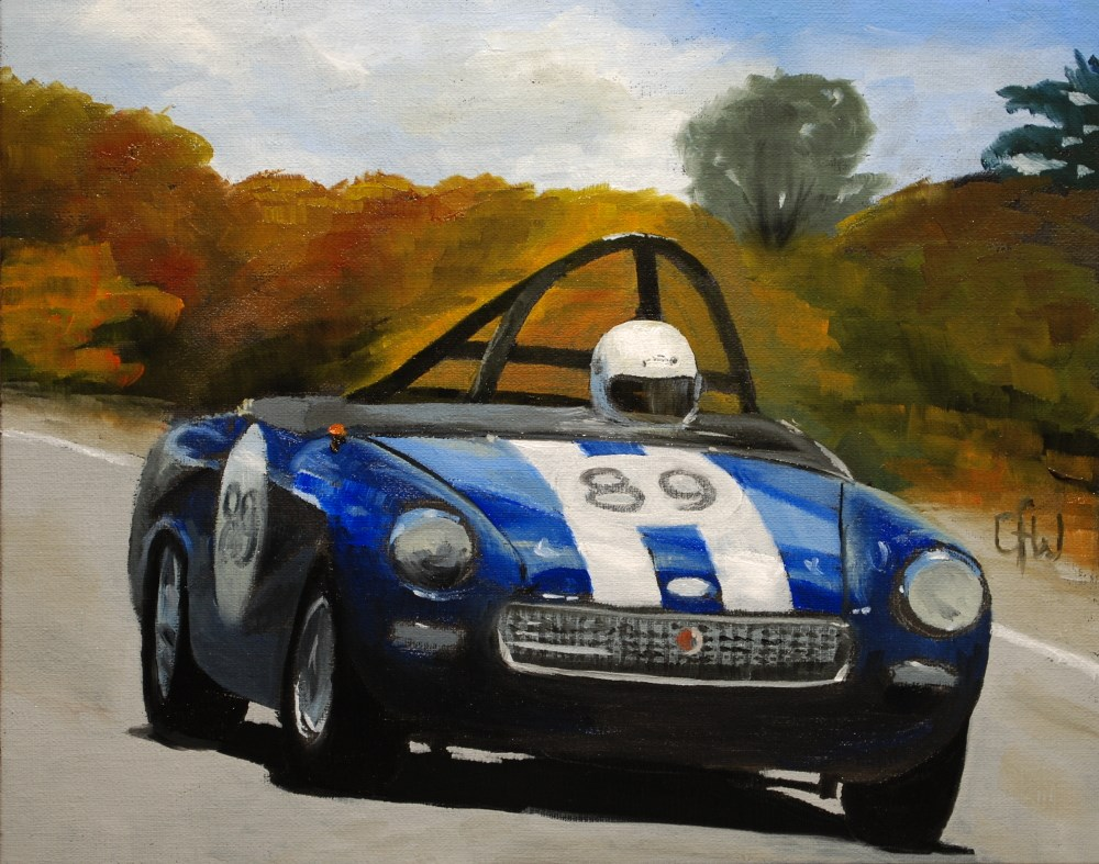 """MG Racer"" original fine art by Gary Westlake"