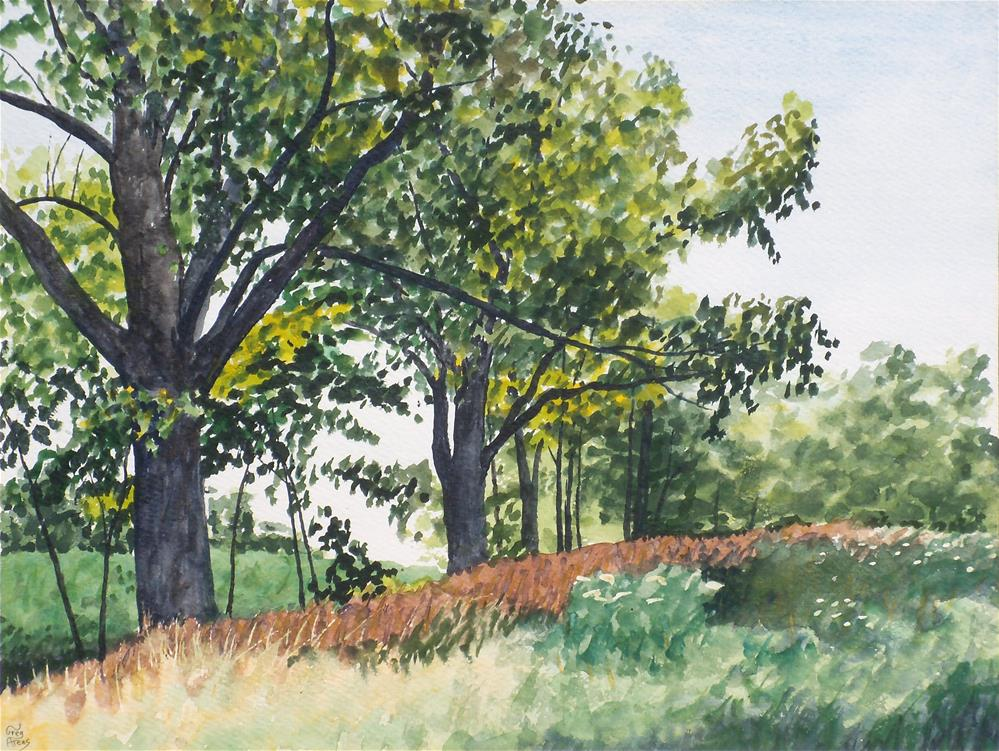 """River Road Trees"" original fine art by Greg Arens"