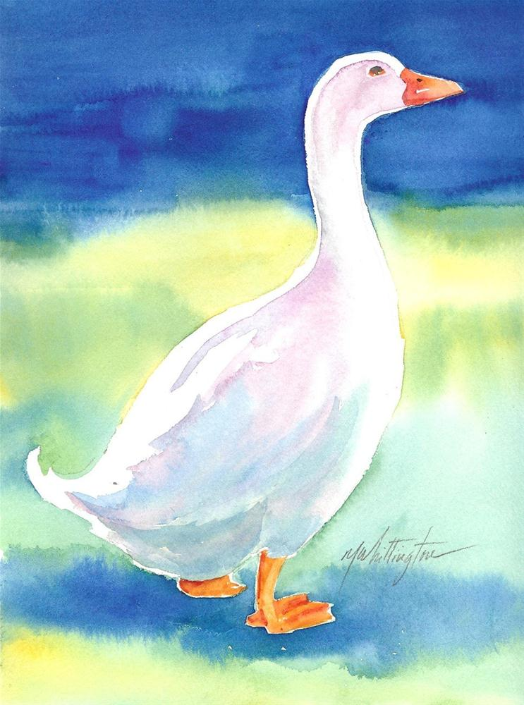 """Goose"" original fine art by Margie Whittington"