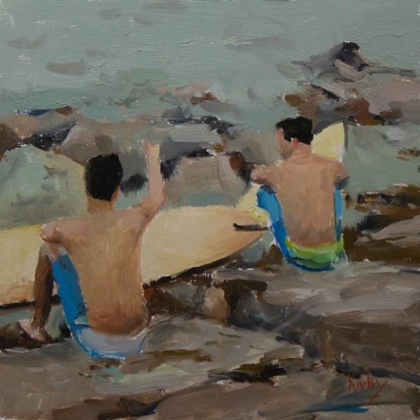 """Surfside"" original fine art by Randall Cogburn"