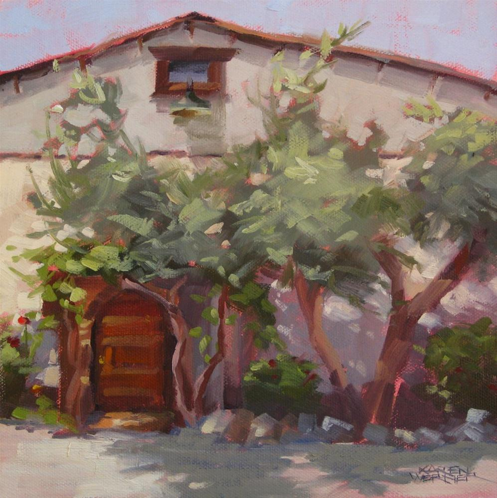 Winery Shadows original fine art by Karen Werner