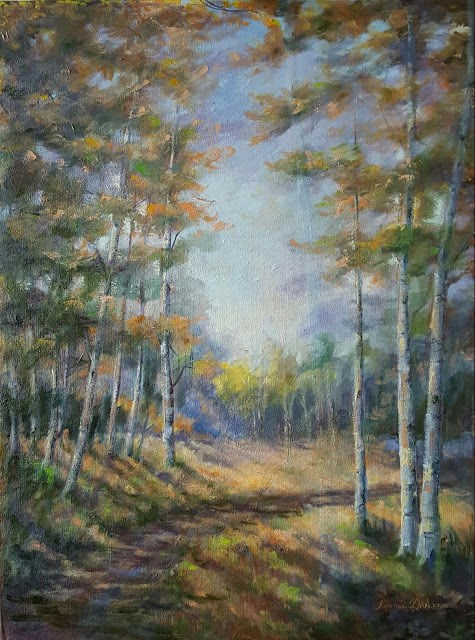 """Autumn Begins"" original fine art by Tammie Dickerson"