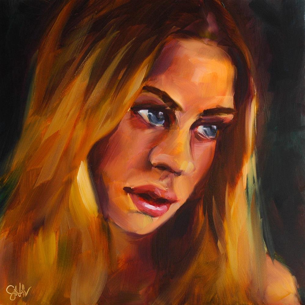 """Tenderness"" original fine art by Janette Harter"