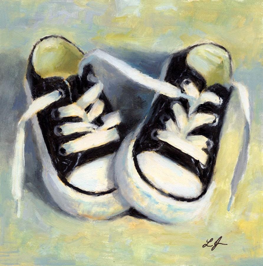 """Little Sneakers"" original fine art by Linda Jacobus"
