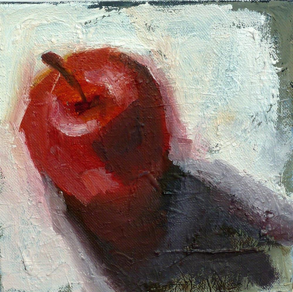 """ein Apfel - roter Apfel"" original fine art by Mila Plaickner"