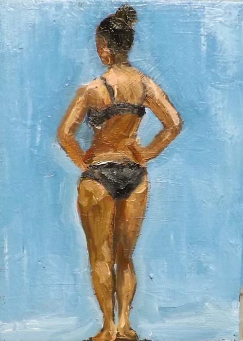 """""""WATERY DAY,A26"""" original fine art by Run-      Zhang Zane"""